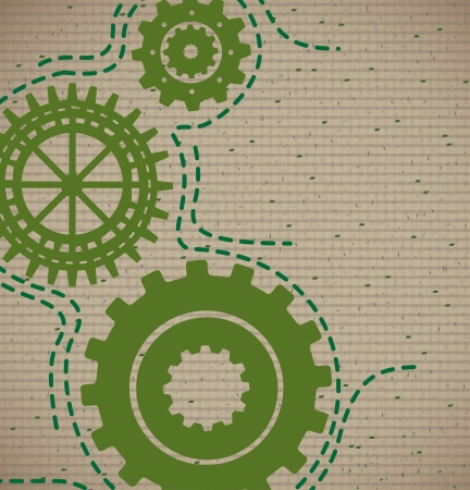 gears pattern over lineal background. Vector Illustration  Stock Vector - 22327229