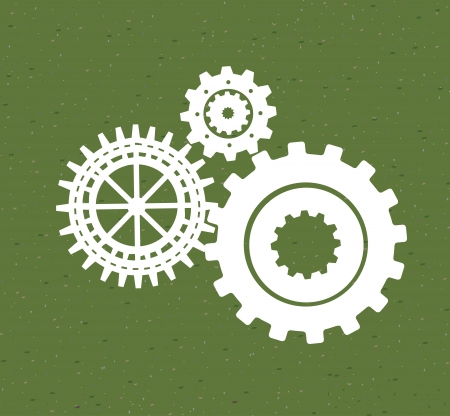 versnellingen patroon over groene achtergrond. vector Illustration