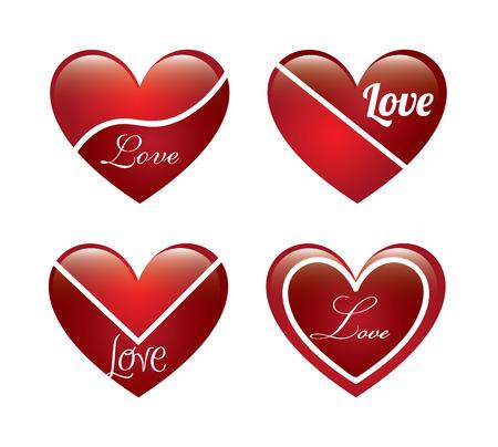 love heart over white background vector illustration Stock Vector - 22327226