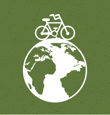 save the planet design over green background vector illustration  Vector