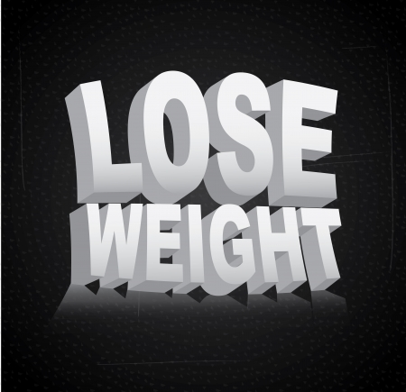 over weight: lose weight over black background  vector illustration
