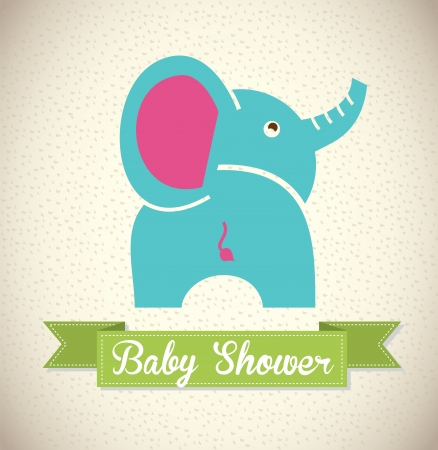 baby shower design over pattern background vector illustration Vector