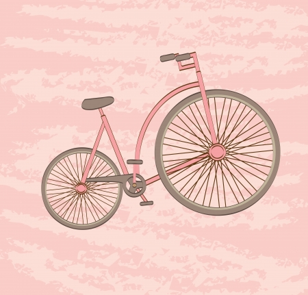 bicycle design over pink background vector illustration Stock Vector - 22327986