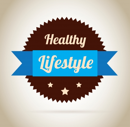 lifestyle seal over beige background vector illustration  Vector