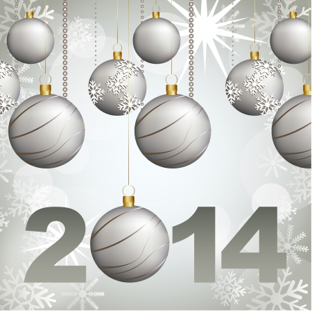 new year design over gray background vector illustration Vector