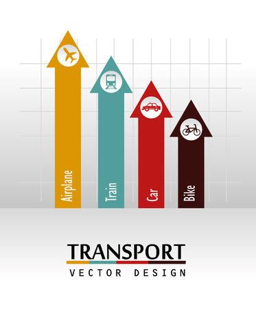 transport arrows over gray background vector illustration  Vector