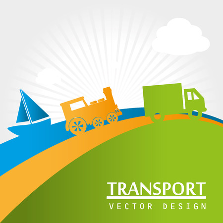 lanscape: transport icons over lanscape background vector illustration Illustration