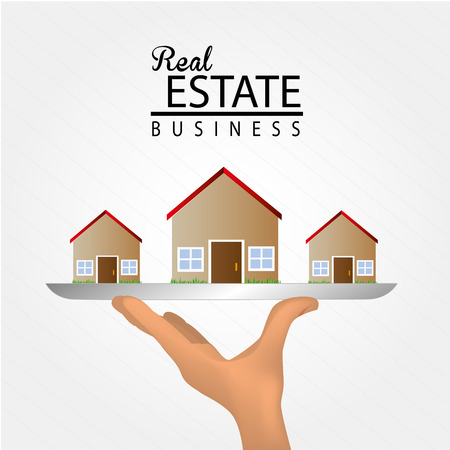 sustained: real estate  over gray background vector illustration  Illustration