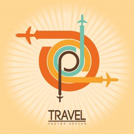 publicist: travel design over cream  background vector illustration