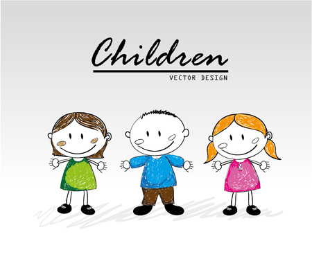 genders: children design over white background vector illustration
