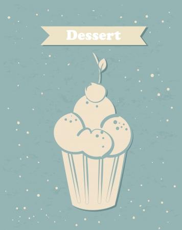dessert  design over blue background vector illustration  Illustration