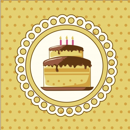 cake  design over dotted background vector illustration  Vector