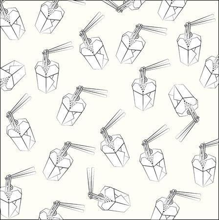spaghetti design over white background vector illustration Stock Vector - 22332445