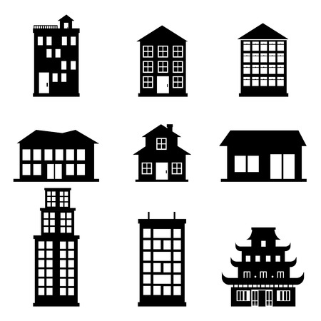 buildings icons over white background vector illustration Stock Vector - 22332454