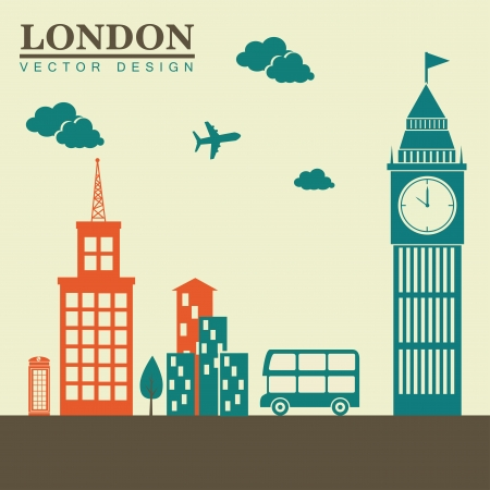 midtown: london design over white background vector illustration