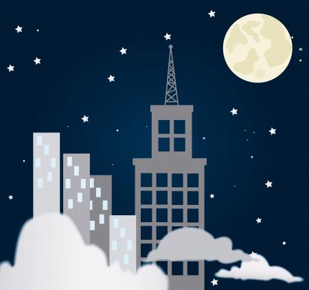 darck: city at night design over  black background vector illustration