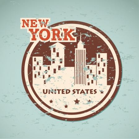 midtown: new york  design over blue background vector illustration  Illustration