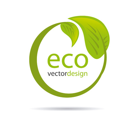 eco design over white background vector illustration  Vector