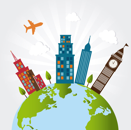 touristic design over gray background vector illustration