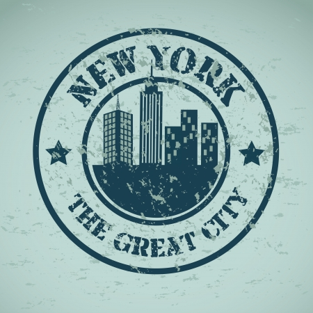 new york  design over blue background vector illustration Vector