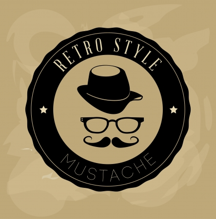 hipster design over beige background vector  illustration  Ilustrace