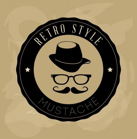 mister: hipster design over beige background vector  illustration  Illustration