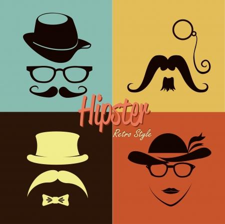 hipster design over dotted background vector  illustration   Vector