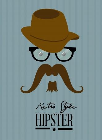 hipster design over blue background vector  illustration   Vector