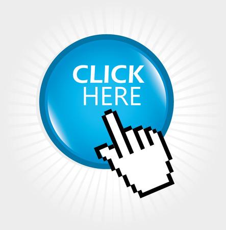 vote here: click here design over white background vector illustration