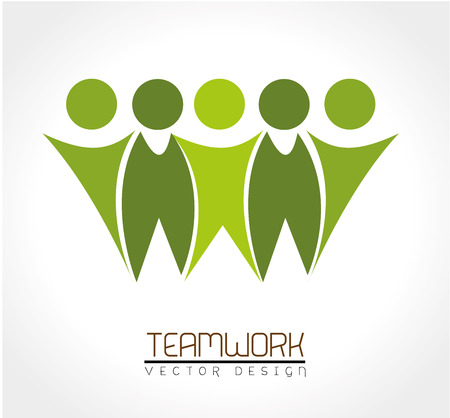 teamwork together: teamwork design over white background vector illustration Illustration