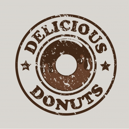 donuts design over gray background vector illustration  Vector
