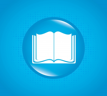 signifier: book bubble over blue background vector illustration