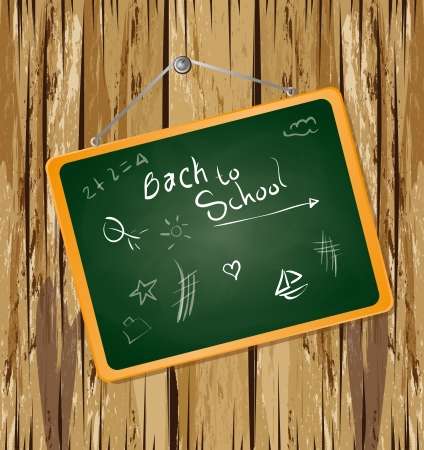 back to school design over wooden background vector illustration  Vector
