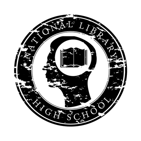 national library over white background vector illustration Stock Vector - 22333979