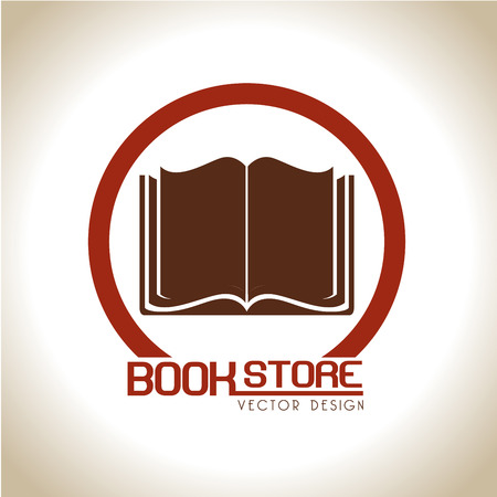 book store over beige background vector illustration