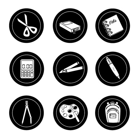 school icons over white background vector illustration Vector