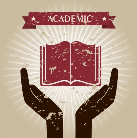 academic design over beige background vector illustration Vector