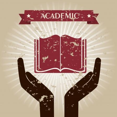 signifier: academic design over beige background vector illustration