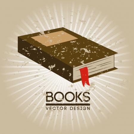 signifier: books design over beige background vector illustration
