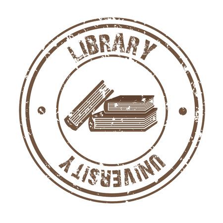 library university over white background vector illustration Stock Vector - 22333990