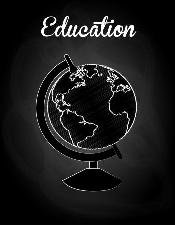 education design over black background vector illustration Illustration