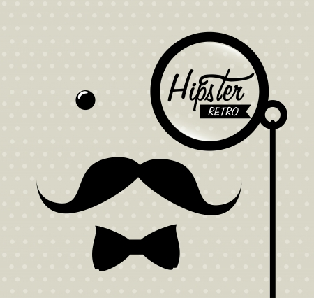 hipster design over dotted background vector  illustration   Vector