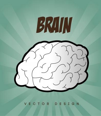 brain design over blue background vector illustration   Vector