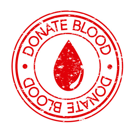 donate blood over white background vector illustration Stock Vector - 22334877
