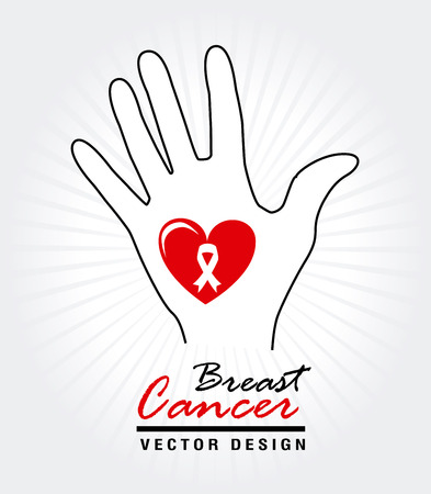 breast cancer over white background vector illustration Stock Vector - 22334874