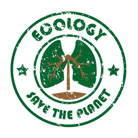 ecology design over white background vector illustration Stok Fotoğraf - 22334872