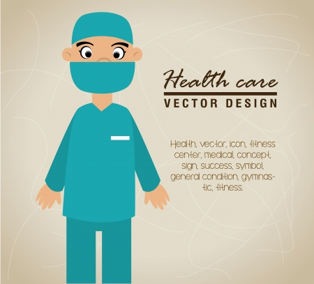 health care design over red background vector illustration Vector