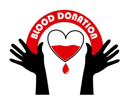 donate blood over white background vector illustration Stock Vector - 22334879
