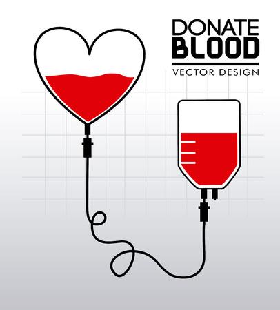 blood type: donar sangre sobre fondo gris ilustraci�n vectorial