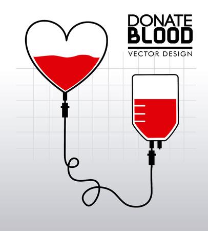 humanitarian: donate blood over gray background vector illustration Illustration